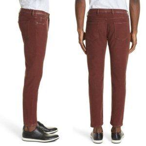 Eleventy Platinum slim fit stretch cotton trouser